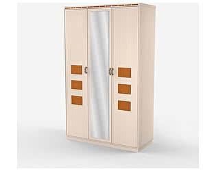 Купить шкаф Уфамебель 3-х дверный с зеркалом по середине Кэри Gold