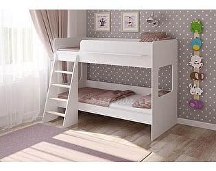Кровать двухъярусная Легенда 25.1 белый