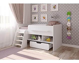 Кровать-чердак Легенда 6 белый