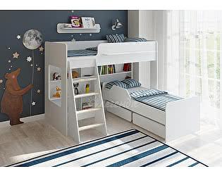 Кровать двухъярусная Легенда 26.2 белый