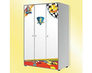Шкаф 3-дверный к кровати RX800 (белый, синий), GSR-8031