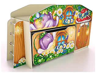 Кровать-чердак Фанки Лесная сказка ФБ-КЧ8 со столиком и ящиком