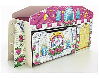 Кровать-чердак Фанки Замок принцессы ФБ-КЧ8 со столиком и ящиком