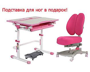 Парта FunDesk Lavoro L Pink+ стул Contento Pink