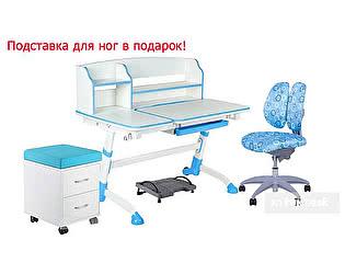 Парта FunDesk Amare II + стул SST9 + тумбочка SS15W