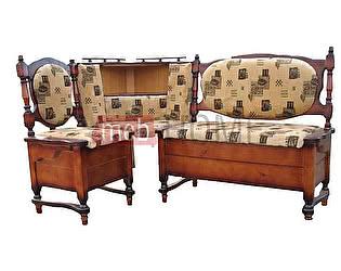 Угловой диван Шале Картрайд с углубленным ящиком левый