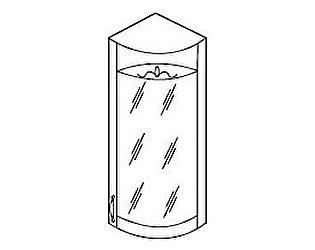 МВ 29 Торцевой шкаф со стеклом правый