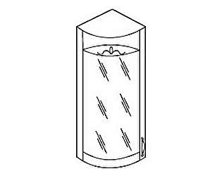 МВ 29 шкаф торцевой со стеклом левый