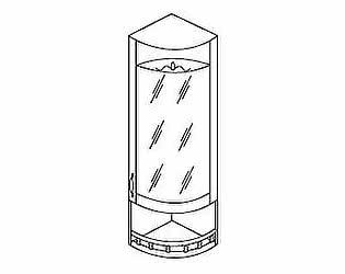 МВ 30 Шкаф торцевой со стеклом правый