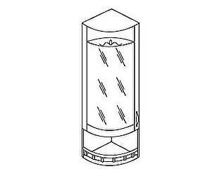 МВ 30 Шкаф торцевой со стеклом левый