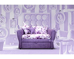 Детский минидиван Малина Canvas Pelle violet (сиренев.)