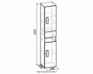 Hyper (прихожая) Шкаф МЦН 3
