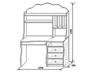 Стол для компьютера КМК Волшебница, 0385.8