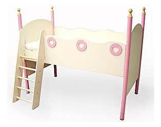 Кровать-чердак левая Принцесса