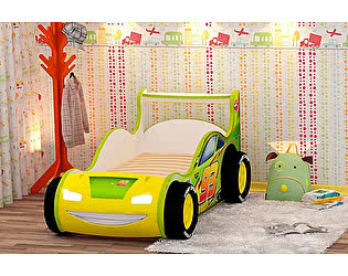 Кровать-машинка Red River Молния 3Д пластик (80)