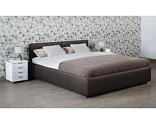 Купить кровать Moon Trade Прима 160 Модель 1200 (коричневый) с подъемным механизмом