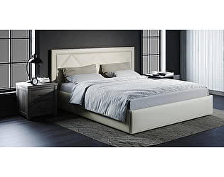 Купить кровать Moon Trade Доменика 140 Модель 1203 (белый) с подъемным механизмом