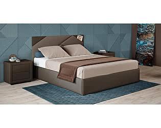 Купить кровать Moon Trade Альба 160 Модель 1206 (коричневый) с подъемным механизмом