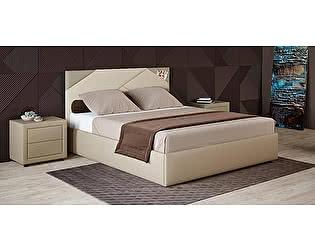 Купить кровать Moon Trade Альба 160 Модель 1206 (бежевый) с основанием