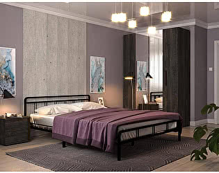Купить кровать Rollmatratze Леон, черная