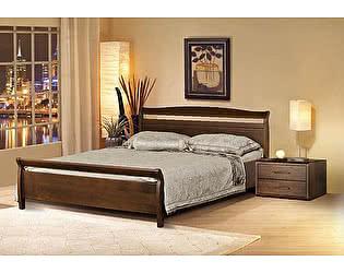 Кровать Диамант Руно-4 (эмаль/кракле) с подъемным механизмом и ящиком