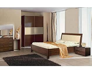 Кровать Диамант Руно-5 (эмаль/кракле) с подъемным механизмом и ящиком