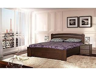 Кровать Диамант Руно-7 (эмаль/кракле) с подъемным механизмом и ящиком