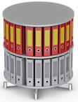 Вращающийся стеллаж для папок Moll CompactFile диаметр 80 см, 2 этажа