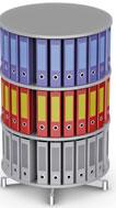 Вращающийся стеллаж для папок Moll CompactFile диаметр 80 см, 3 этажа