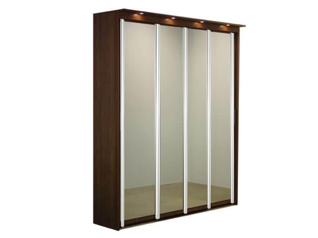 Шкаф-купе ЭЛИТ 4х дверный с 4 зеркальными дверями