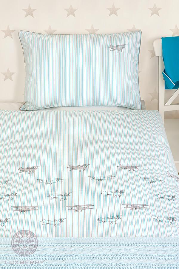 Детское постельное белье Luxberry Aviator, простынь без резинки - Detskoye-Postelnoe.Ru