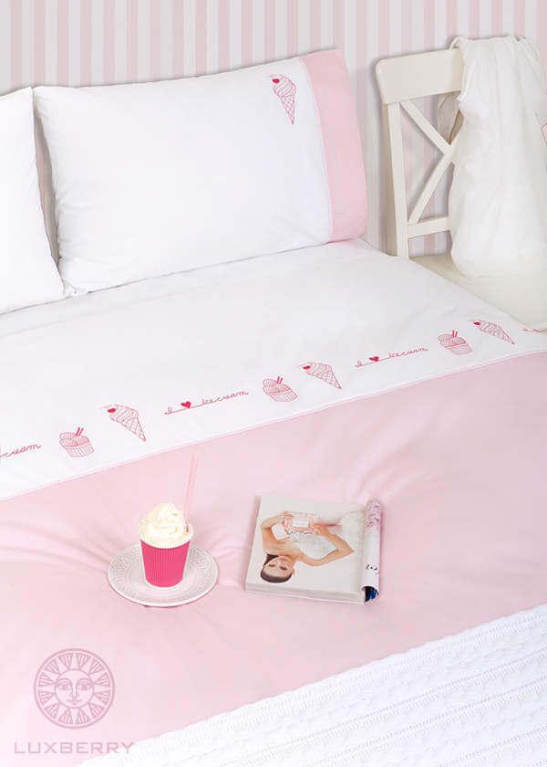 Детское постельное белье Luxberry Icecream, простынь на резинке - Detskoye-Postelnoe.Ru