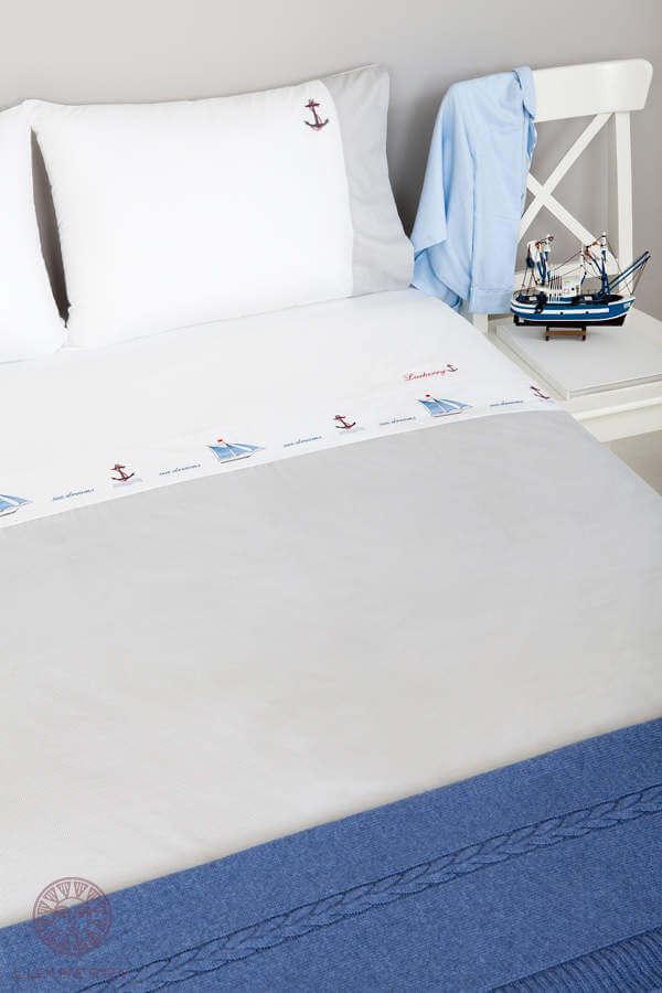 Детское постельное белье Luxberry Sea dreams, простынь на резинке - Detskoye-Postelnoe.Ru