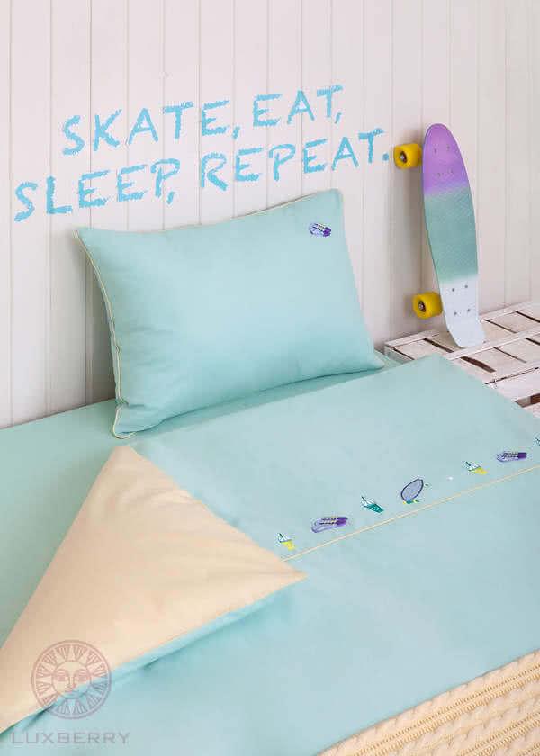 Детское постельное белье Luxberry Skateboys, простынь без резинки - Detskoye-Postelnoe.Ru