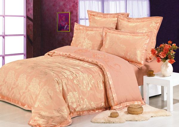 Постельное белье персикового цвета Kingsilk RZ-20