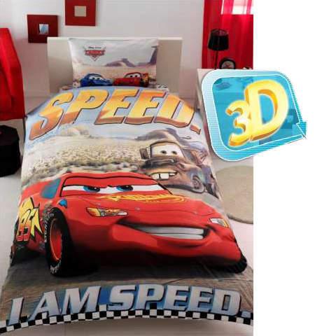 Тачки постельное белье Cars 3D (Полутораспальный)