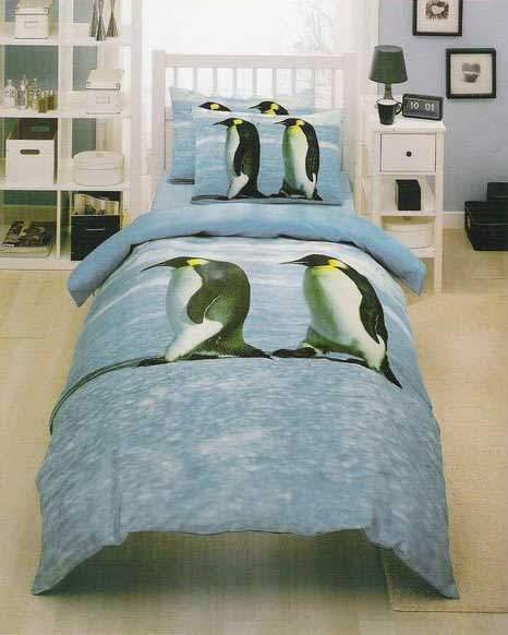 Полуторное постельное белье TAC Penguin