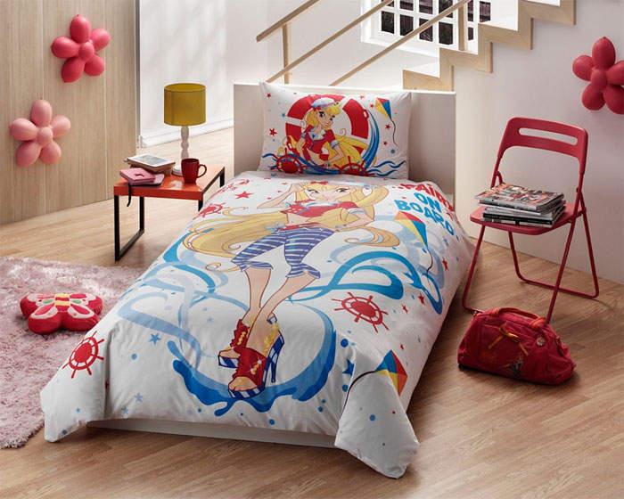 Детское постельное белье Winx (Винкс) Stella Ocean - Detskoye-Postelnoe.Ru