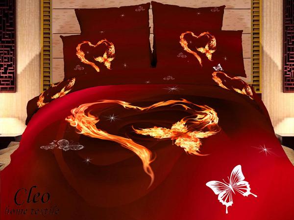 Красное постельное белье Cleo Арт.-Cl 250