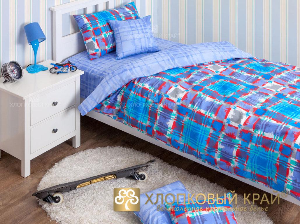 Детское постельное белье Хлопковый край Geometry blue - Detskoye-Postelnoe.Ru