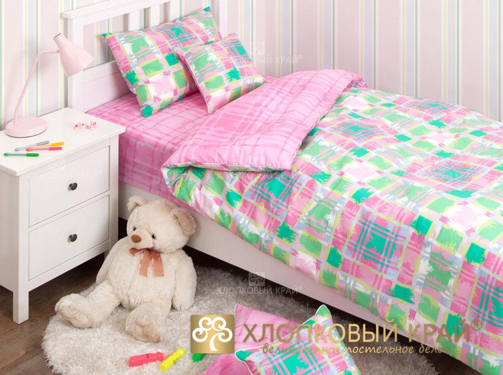 Детское постельное белье Хлопковый край Geometry pink - Detskoye-Postelnoe.Ru