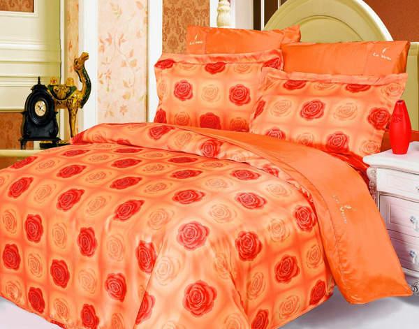 Постельное белье из сатина и шелка Le Vele Roxy Orange