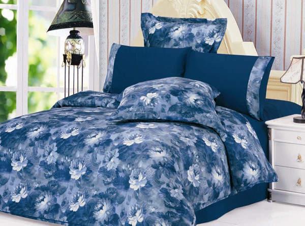 Синее постельное белье Le Vele Salina
