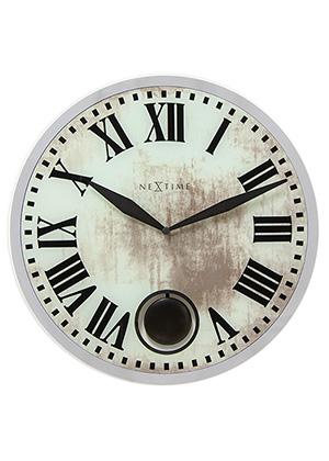 Часы настенные Урбаника Romana с маятником, бежевые - Петербург