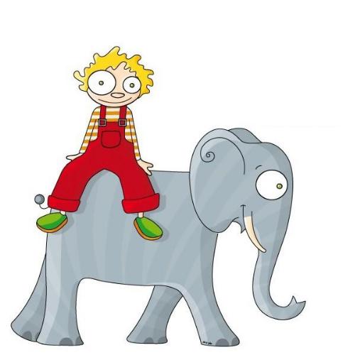 Настенный стикер Урбаника На слоне
