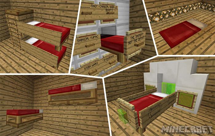 как сделать кровать в майнкрафте #5