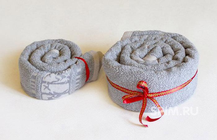 как красиво завязать полотенце в подарок фото википедии есть