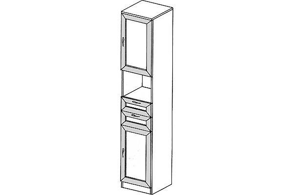 Пенал с ящиками ГРОС серии Алена ПМ 7 (рамка)