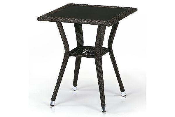 Плетеный стол Афина-мебель T25-W53-50x50 Brown