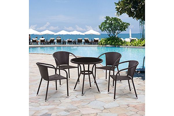 Комплект плетеной мебели Афина-мебель T282ANS/Y137C-W53 Brown 4Pcs